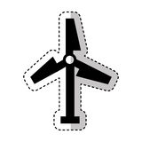 Turbine air energy icon Royalty Free Stock Photography
