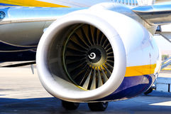 Turbine of aircraft Royalty Free Stock Images