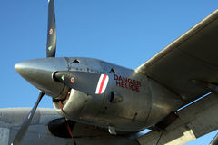 Turbine aircraft engine Royalty Free Stock Photos