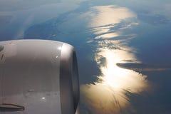 Turbine of airplane Stock Photo