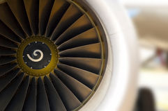 Turbine of airplane Stock Photo