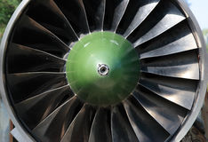 Turbine of airplane Stock Photos