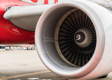 Turbine of airplane . Stock Image
