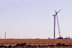 Turbine-Aufbau - recht Stockfotografie