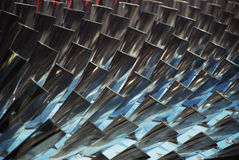 Turbine Blades. Interior of a turbine, blades visible royalty free stock photos
