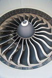 Turbine blades of an aircraft jet engine Royalty Free Stock Image