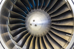 Turbine Blades of an Airplane Jet Engine I Royalty Free Stock Photo