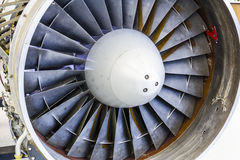 Turbine Blades of an Airplane Jet Engine II Royalty Free Stock Image