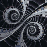 Turbine blades wings double coil spiral effect abstract fractal Stock Photography