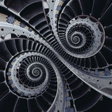 Turbine blades wings double coil spiral effect abstract fractal Stock Image
