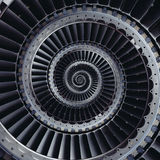 Turbine blades wings spiral effect abstract fractal pattern back Royalty Free Stock Photos
