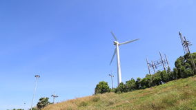 Turbine. On blue sky background stock video footage