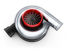 Turbine car. On white background (done in 3d stock illustration