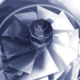 Turbine cross section detail. Of motor. 3D illustration Stock Photos