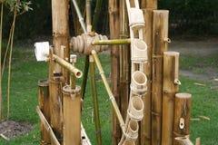 Turbine de bambou de roue Photo stock