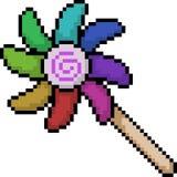 Turbine de jouet d'art de pixel de vecteur Image libre de droits
