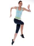 Turbine de passage de fonctionnement de femme sprinting Photographie stock libre de droits