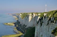 Turbine de vent chez Fécamp dans les Frances Photo stock