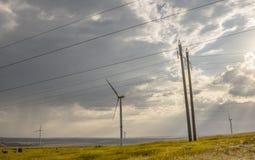 Turbine de vent dans les steppes de Donbass photo libre de droits