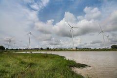 Turbine de vent en Thaïlande Photographie stock libre de droits