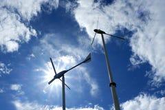Turbine de vent et le ciel pour le moteur Image libre de droits