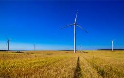 Turbine de vent, production d'électricité Photo stock