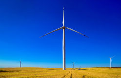 Turbine de vent, production d'électricité Images stock