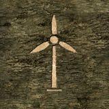 Turbine de vent sur l'écorce Photos libres de droits