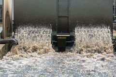 Turbine in der überschüssigen Kläranlage Stockfoto