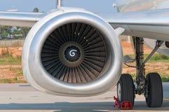 Turbine der Flugzeuge stockfoto