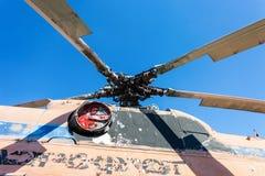 Turbine des schweren Transporthubschraubers Stockfoto
