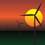 Turbine di energia di vento Fotografia Stock
