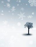 Turbine di neve di inverno Fotografie Stock Libere da Diritti