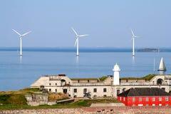 Turbine di vento di Copenhaghen Fotografie Stock