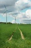 Turbine di vento di energia alternativa immagini stock