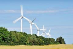 Turbine di vento di giro immagini stock libere da diritti