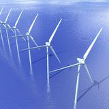 Turbine di vento di terra Immagini Stock Libere da Diritti