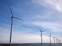 Turbine di vento in mare aperto Fotografia Stock Libera da Diritti