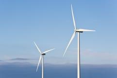 Turbine di vento nell'aria Fotografia Stock