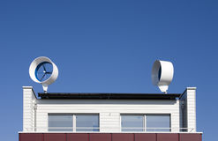 Turbine di vento residenziali Fotografie Stock Libere da Diritti