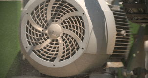 Turbine engine is rotating. On power plant in Heavy industry stock footage