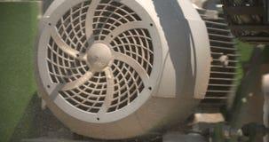 Turbine engine is rotating stock footage