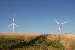 Turbine eoliche, in sud Italië Royalty-vrije Stock Afbeelding