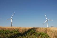 Turbine eoliche, in sud Italië Stock Foto's