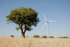 Turbine eoliche, in sud Italia Stock Photo