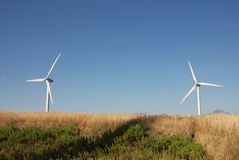 Turbine eoliche, in sud Italia Stock Photos
