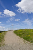 Turbine et bancs de vent avec une vue Image libre de droits