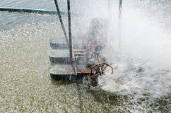 Turbine für Wasserbehandlung und Zirkulation des Sauerstoffes im wat lizenzfreies stockbild