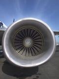 Turbine fan of a jet airplane Royalty Free Stock Photo