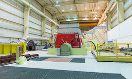 Turbine and Generator in a Natural Gas power plant Royalty Free Stock Photos